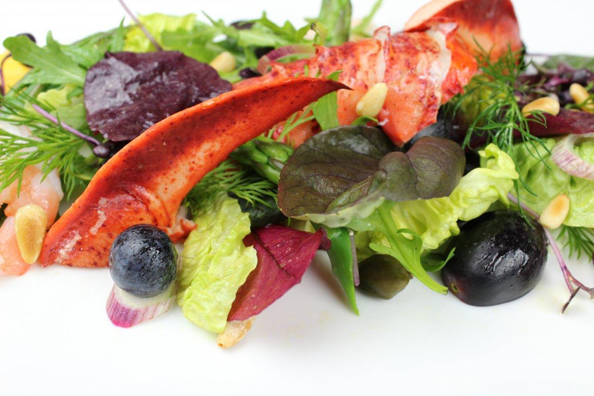 Salat mit Hummer